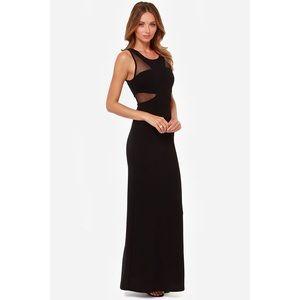Lulu's Lasting Impressions Black Maxi Dress Large